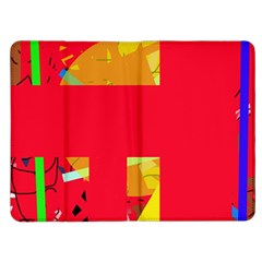 Red abstraction Kindle Fire (1st Gen) Flip Case