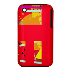 Red abstraction Apple iPhone 3G/3GS Hardshell Case (PC+Silicone)
