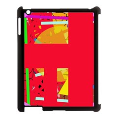 Red abstraction Apple iPad 3/4 Case (Black)