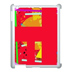 Red abstraction Apple iPad 3/4 Case (White)