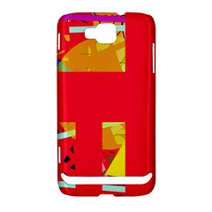 Red abstraction Samsung Ativ S i8750 Hardshell Case
