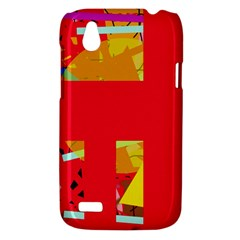 Red abstraction HTC Desire V (T328W) Hardshell Case