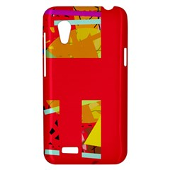 Red abstraction HTC Desire VT (T328T) Hardshell Case