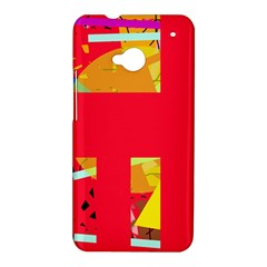Red abstraction HTC One M7 Hardshell Case