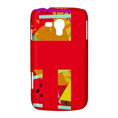 Red abstraction Samsung Galaxy Duos I8262 Hardshell Case