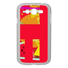 Red abstraction Samsung Galaxy Grand DUOS I9082 Case (White)