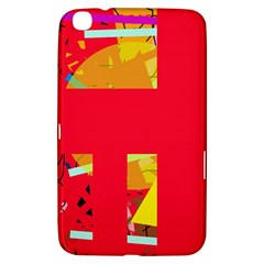 Red abstraction Samsung Galaxy Tab 3 (8 ) T3100 Hardshell Case
