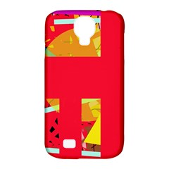 Red abstraction Samsung Galaxy S4 Classic Hardshell Case (PC+Silicone)