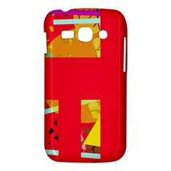Red abstraction Samsung Galaxy Ace 3 S7272 Hardshell Case