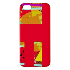 Red abstraction iPhone 5S/ SE Premium Hardshell Case