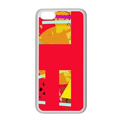 Red abstraction Apple iPhone 5C Seamless Case (White)