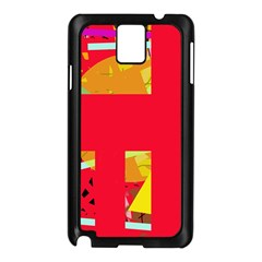 Red abstraction Samsung Galaxy Note 3 N9005 Case (Black)