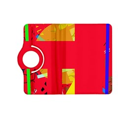 Red abstraction Kindle Fire HD (2013) Flip 360 Case