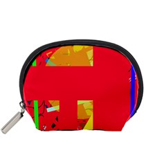 Red abstraction Accessory Pouches (Small)