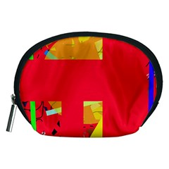 Red abstraction Accessory Pouches (Medium)