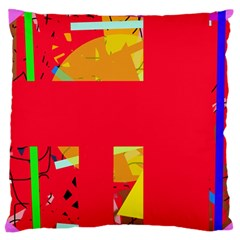 Red abstraction Standard Flano Cushion Case (Two Sides)