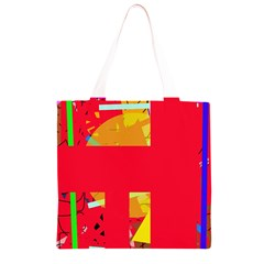 Red abstraction Grocery Light Tote Bag