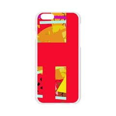 Red abstraction Apple Seamless iPhone 6/6S Case (Transparent)