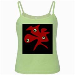 Red amoeba Green Spaghetti Tank