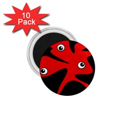 Red amoeba 1.75  Magnets (10 pack)