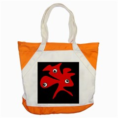Red amoeba Accent Tote Bag