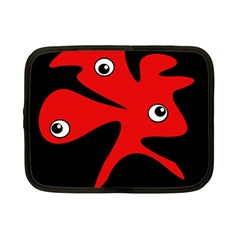Red amoeba Netbook Case (Small)