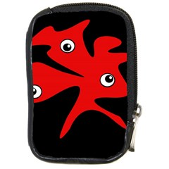 Red amoeba Compact Camera Cases
