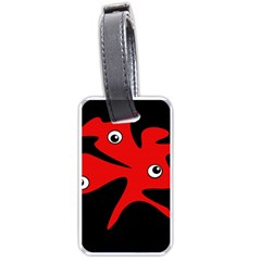 Red amoeba Luggage Tags (Two Sides)