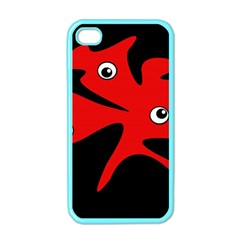 Red amoeba Apple iPhone 4 Case (Color)
