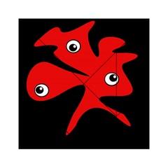 Red amoeba Acrylic Tangram Puzzle (6  x 6 )