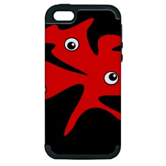 Red amoeba Apple iPhone 5 Hardshell Case (PC+Silicone)