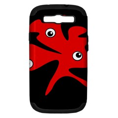 Red amoeba Samsung Galaxy S III Hardshell Case (PC+Silicone)