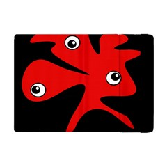 Red amoeba Apple iPad Mini Flip Case