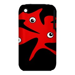 Red amoeba Apple iPhone 3G/3GS Hardshell Case (PC+Silicone)