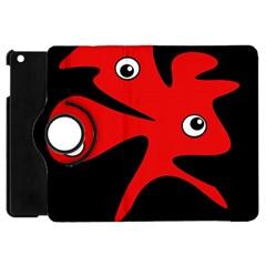 Red amoeba Apple iPad Mini Flip 360 Case