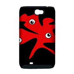 Red amoeba Samsung Galaxy Note 2 Hardshell Case (PC+Silicone)