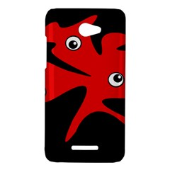 Red amoeba HTC Butterfly X920E Hardshell Case