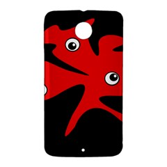 Red amoeba Nexus 6 Case (White)