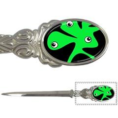 Green amoeba Letter Openers