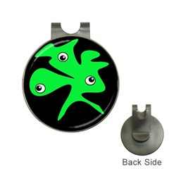 Green amoeba Hat Clips with Golf Markers