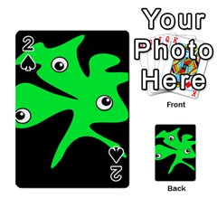 Green amoeba Playing Cards 54 Designs