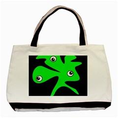 Green amoeba Basic Tote Bag