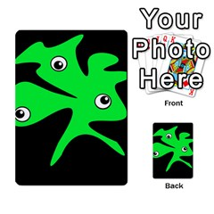 Green amoeba Multi-purpose Cards (Rectangle)