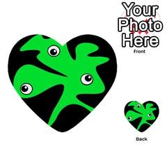 Green amoeba Multi-purpose Cards (Heart)