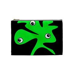 Green amoeba Cosmetic Bag (Medium)
