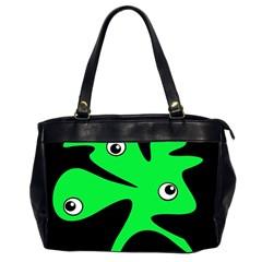 Green amoeba Office Handbags (2 Sides)
