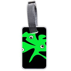 Green amoeba Luggage Tags (Two Sides)