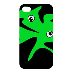 Green amoeba Apple iPhone 4/4S Premium Hardshell Case