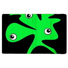 Green amoeba Apple iPad 2 Flip Case