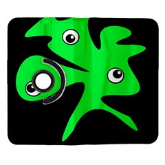 Green amoeba Samsung Galaxy Note II Flip 360 Case